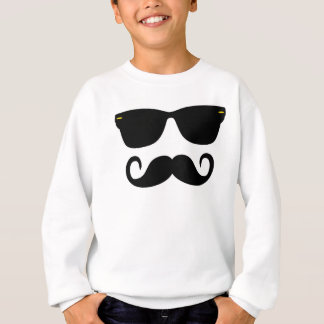 Hipster - Glasses and 'Stache Sweatshirt