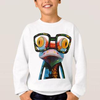 Hipster Glasses Frog Sweatshirt