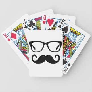 Hipster Glasses & Handlebar Mustache Bicycle Playing Cards
