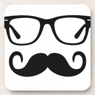 Hipster Glasses & Handlebar Mustache Coaster
