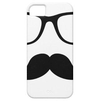 Hipster Glasses & Handlebar Mustache iPhone 5 Cases