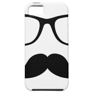 Hipster Glasses & Handlebar Mustache iPhone 5 Cover
