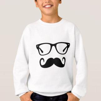 Hipster Glasses & Handlebar Mustache Sweatshirt