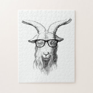 Hipster Goat Jigsaw Puzzle