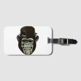 Hipster Gorilla Bag Tag
