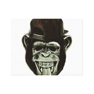 Hipster Gorilla Canvas Print