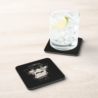 Hipster Gorilla With Glasses Drink Coaster