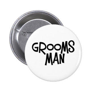 Hipster Groomsman Buttons