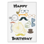 Hipster Happy Birthday Cards