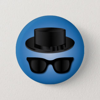 Hipster Hat and Glasses 2 Inch Round Button