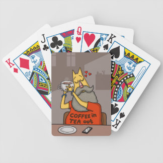 Hipster Hazelnut latte Bicycle Playing Cards