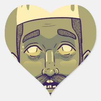Hipster Heart Sticker