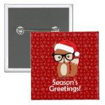 Hipster Holiday Fox Glasses Cute Animal Christmas