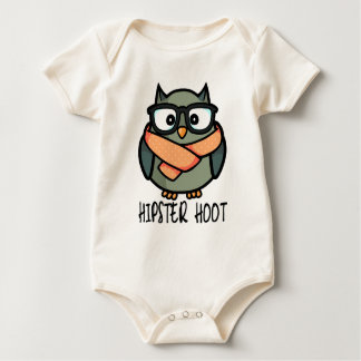 Hipster Hoot Baby Bodysuit