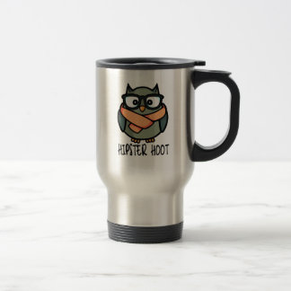 Hipster Hoot Travel Mug
