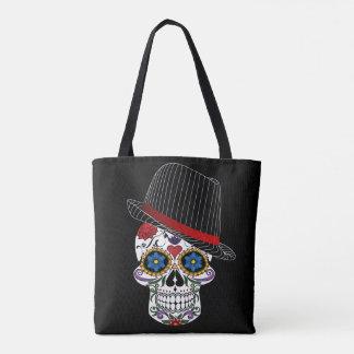 Hipster Horror Skull Tote Bag