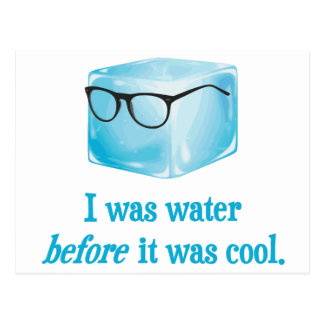 Hipster Ice Cube Was Water Before It Was Cool Postcard