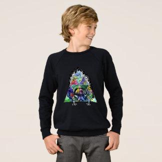 Hipster Indian Pug Dog Sweatshirt