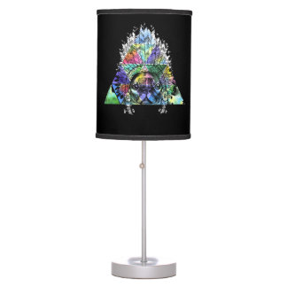 Hipster Indian Pug Dog Table Lamp