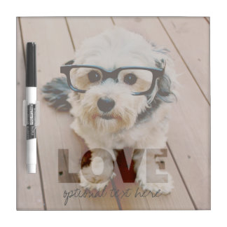 Hipster Instagram Photo Art - Love Color Overlay Dry Erase Board