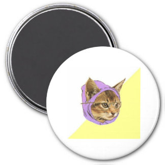 Hipster Kitty Cat Advice Animal Meme 3 Inch Round Magnet