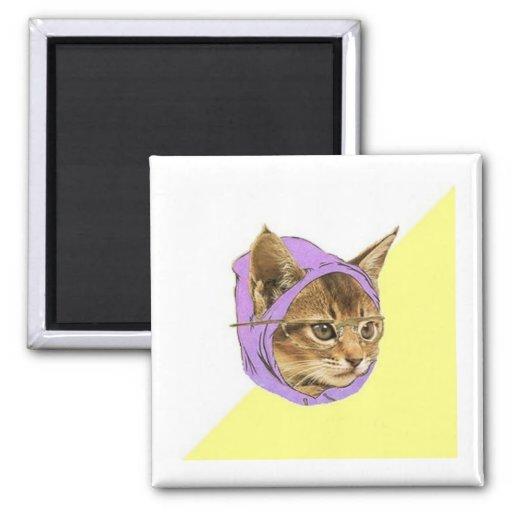 Hipster Kitty Cat Advice Animal Meme Refrigerator Magnets