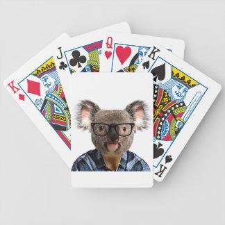 Hipster Koala Bicycle Playing Cards