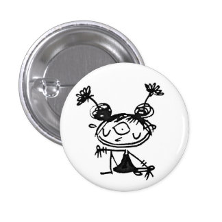 hipster lakshmi 1 inch round button