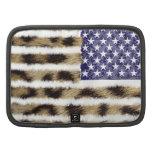 Hipster leopard Print American USA Patriotic Flag Planner