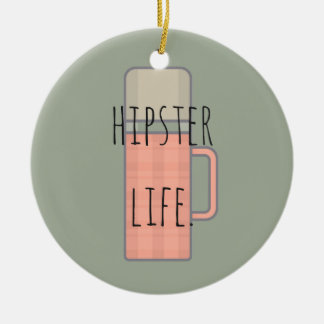 Hipster Life Illustration Design Collection Ceramic Ornament