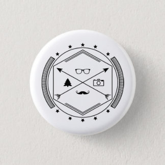 Hipster-like 1 Inch Round Button