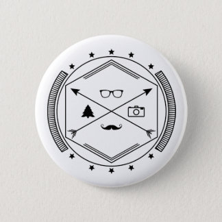 Hipster-like 2 Inch Round Button