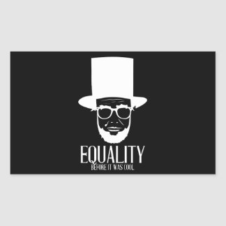 Hipster Lincoln Equality Sticker