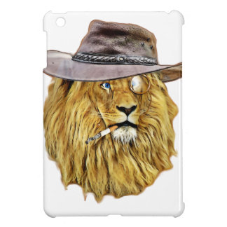 Hipster Lion Animal iPad Mini Cases