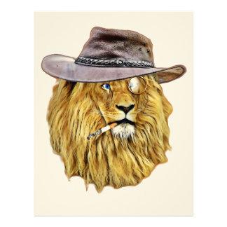 Hipster Lion Animal Letterhead Design