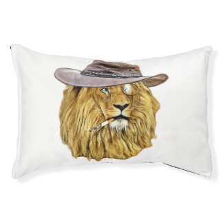 Hipster Lion Animal Small Dog Bed