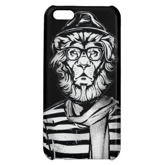 Hipster Lion Black and White Cover For iPhone 5C