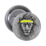 Hipster lion buttons