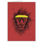 hipster lion (red) card