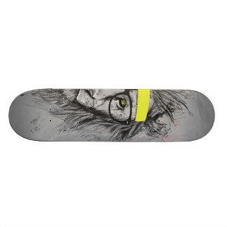 hipster lion skateboard