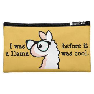 Hipster Llama Cosmetic Bag