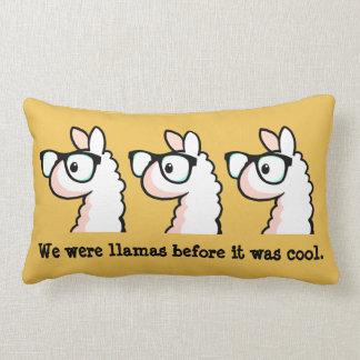 Hipster Llama Lumbar Pillow