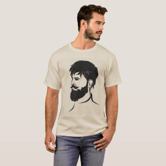 hipster male figure with beard T-Shirt