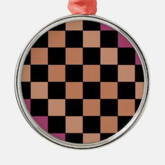 Hipster Modern Checkerboard Christmas Tree Ornament
