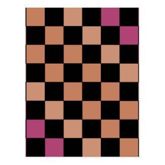 Hipster Modern Checkerboard Postcard