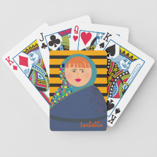 Hipster Modern Matryoshka Colorful Russian Doll Bicycle Playing Cards