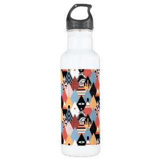 Hipster modern mystic triangle geometric pattern 710 ml water bottle