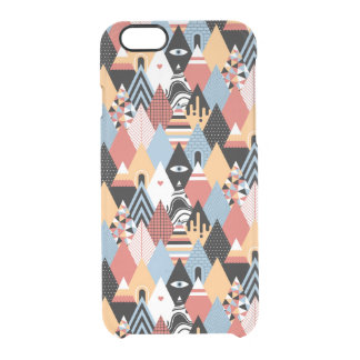 Hipster modern mystic triangle geometric pattern clear iPhone 6/6S case