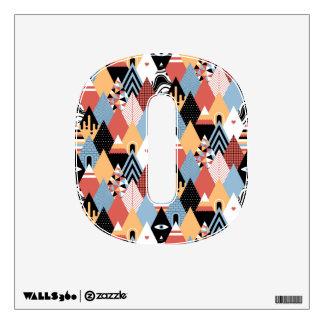 Hipster modern mystic triangle geometric pattern wall sticker