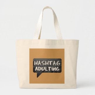 Hipster Mom Large Tote Bag